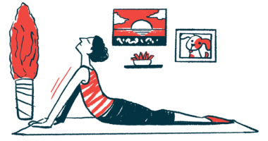 Exercise program | Myasthenia Gravis News | muscle and physical function | illustration of woman exercising